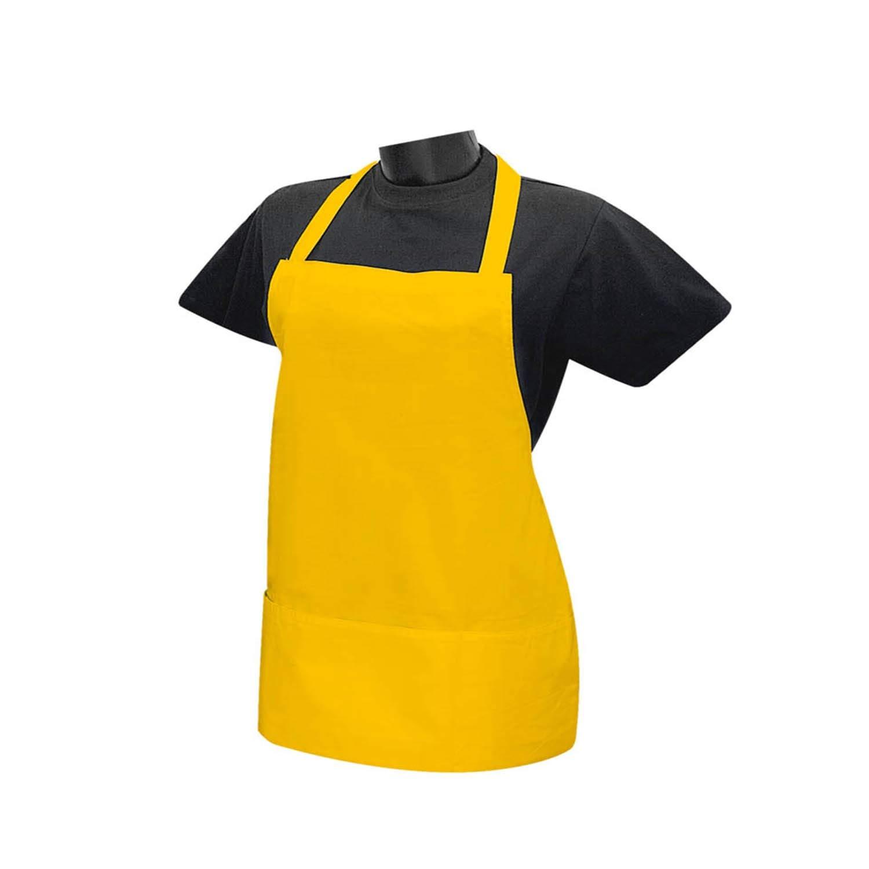 Pack*1 Grembiule Cuoco Unisex Chef Cameriere Grembiule da Cucina Grembiule Ref-865 Verde MISEMIYA