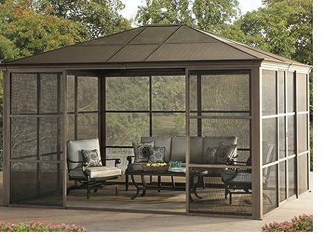 caseta de Verano para Jardín, cabaña grande de aluminio, Lugar de descanso, oficina al aire libre, edificio moderno, para Patio, estructura resistente con ...