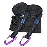 April With You Super Strong Hammock Band Aluminum Hanging Hammock Belt for Camping, Travel, Portable Hanging Tree Rope,Strap Purple Aluminum