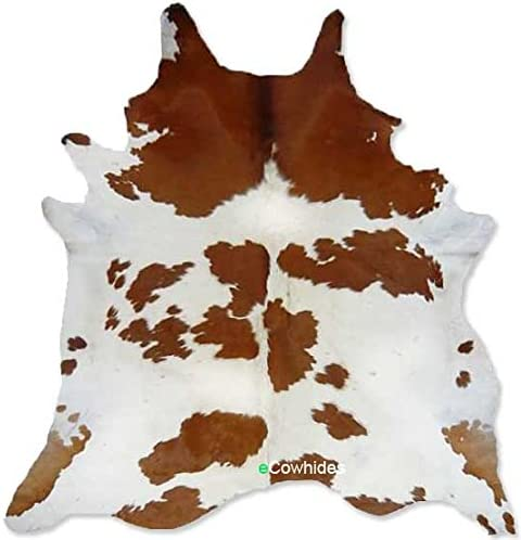 Amazon.com: Brown and White Cowhide Rug on SALE Cow Hide Skin Leather Area  Rug: XL: Home & Kitchen