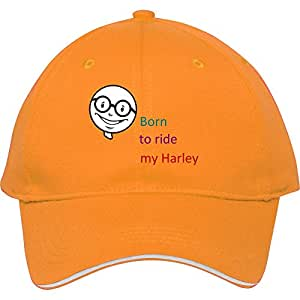 Hot Fashion Yellow Cotton Baseball Cap Snapback Hats With Evanvaughn Born To Ride My Harley Male/female