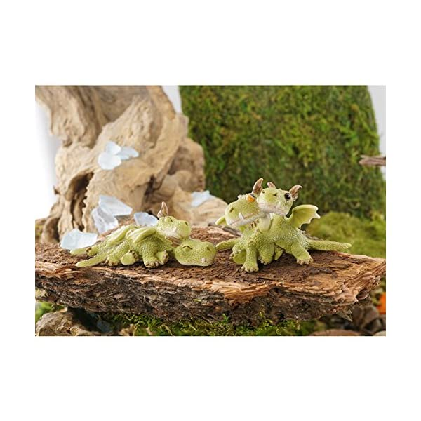 Top Collection Miniature Fairy Garden And Terrarium Mini Dragons Cuddling Figurine