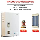 SioGreen IR4000. 240V/9kW/40A. Infrared Electric Hot Tankless Water Heater. No Corrosion. No Limescale