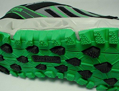 schuhexpress - Zapatillas de running de material sintético para hombre Negro - Noir - Nero, Verde
