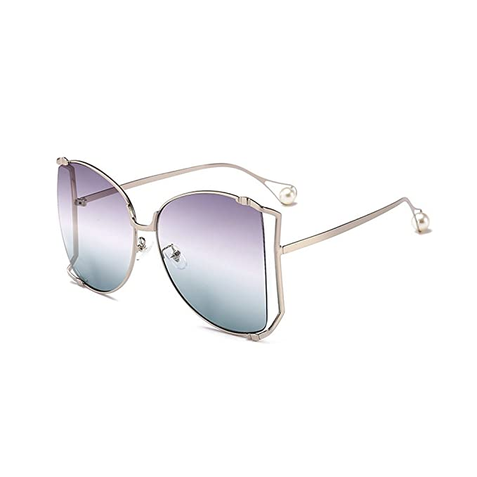 98e729e32ad9 MINCL/Alloy Oversized Sunglasses Women/Men 2018 New Fashion Luxury Hollow  Frame Shades With