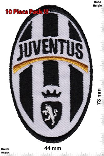 Patch - FC Juventus Turin - small- Soccer Italy - Soccer - Sports - extreme sports - Vest - Iron on Patch - Embroidered Sign Applique Costume Gift - Give Away