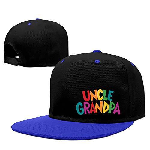 Swag Unisex Uncle Grandpa Logo Hiphop Cap Baseball Hat Snapback Adjustable One Size Royalblue