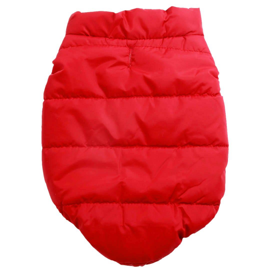 Rouge Joydaog Gilet coupe-vent Manteau pour chien 2/couches avec doublure polaire super chaud pour lhiver par temps froid Extra Doux Chiot chien
