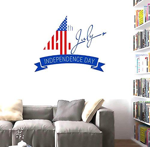 BIBITIME Sayings and Quotes Independence Day Wall Decal Sign