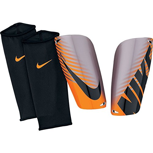 Chrome Soccer Shin Guards (Nike Mercurial Lite Shin Guard [Chrome] (L))
