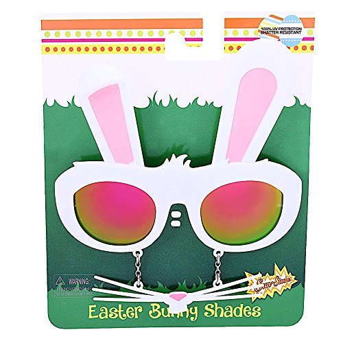 Sunstaches Furry Pink Lens Bunny Character - Bunny Sunglasses
