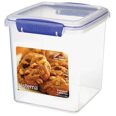 Sistema Klip It Collection Cookie Tub Food Storage Container, 10 Cup