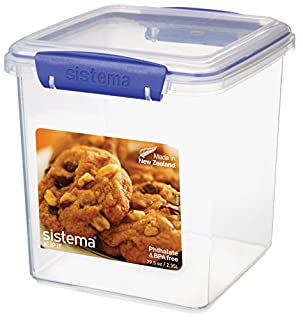 Sistema KLIP IT Utility Collection Cookie Container, 79.5 oz./2.3 L, Clear/Blue (B005D6Y4IA) | Amazon price tracker / tracking, Amazon price history charts, Amazon price watches, Amazon price drop alerts