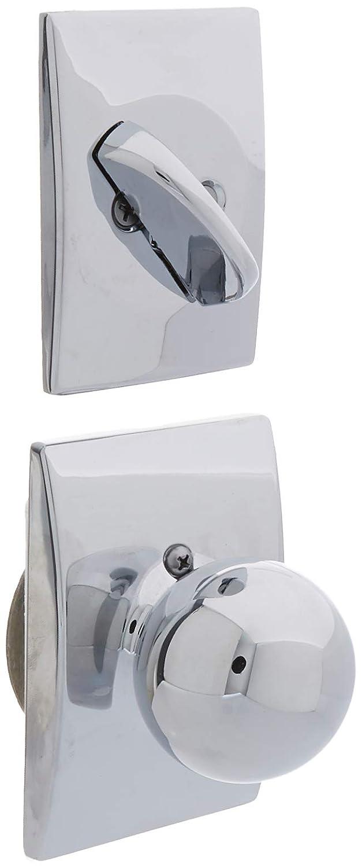 Home Improvement Schlage Lock Company F59ORB625CEN Bright Chrome Orbit Interior Pack Knob Set with Single Cylinder Deadbolt and Decorative Century Rose Top Notch Distributors Inc.