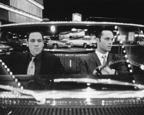 Vince Vaughn and Jon Favreau in Swingers 1964 Mercury Comet Caliente classic convertible car 8x10 Promotional Photograph