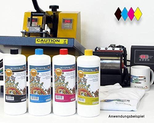 4x 100 ml Tinta de sublimación compatible con Epson, Brother, Roland, Mimaki, Mutoh, CMYK: Amazon.es: Oficina y papelería