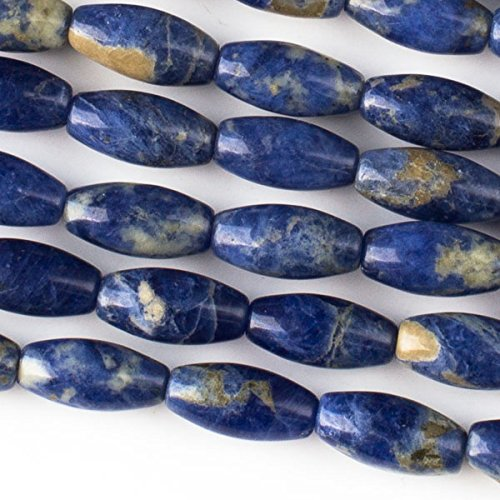 Cherry Blossom Beads Sodalite Beads 7x14mm Smooth Rice - 8 Inch -
