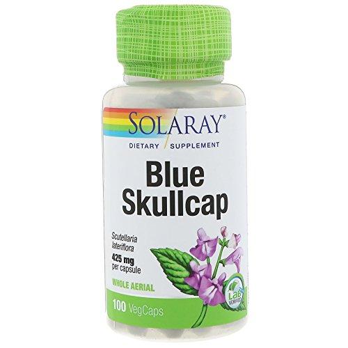 Solaray Skullcap Capsules, 425 mg, 100 Count  (packaging may vary -