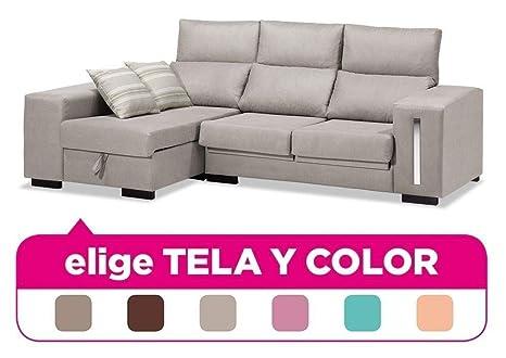 Mueble Sofa con Chaise Longue, tapizado al Gusto, 4 plazas ...