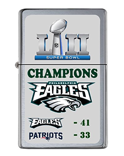 Philadelphia Eagles Super Bowl Champs Score Flip Top Lighter NUMBERED to 250 by Telesca