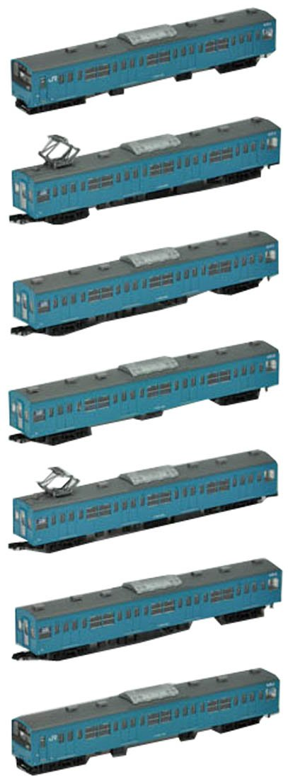 The Railway Collection J.R. Series 201 Tokaido-Sanyo Line (7-Car Set) (Model Train) (japan import)