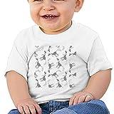 EIE8RE Toddler Kids Boys Girls T-Shirt Classic Unicorns Seamless Printing Short Sleeve