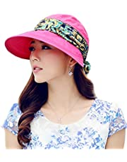 iHomey Roll up Wide Brim Sun Visor UPF 50+ UV Protection Sun Hat with Neck Protector