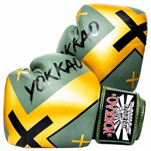 Yokkao Boxing ボクシンググローブ X 緑/Yokkao ヨッカオ ブルテリア Bull Terrier ボクシンググローブ 本革仕様 ムエタイ キックボクシング ムエタイ本場タイのブランド B07R1WJ636  16oz