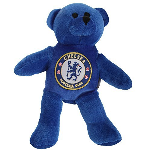 Chelsea FC Official Mini Plush Football Club Teddy Bear (One Size) (Blue) - Chelsea Plush