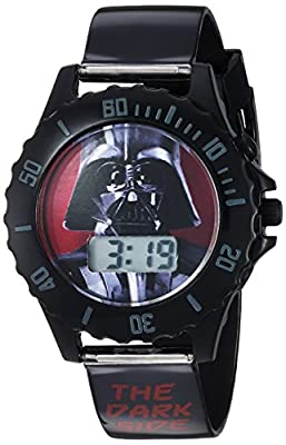 Star Wars Boy's Quartz Plastic Casual Watch, Color:Black (Model: DAR3514) from Accutime Watch Corp.