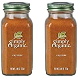 Simply Organic Cayenne Pepper Certified Organic, 2 Pack (2.89 oz) Containers
