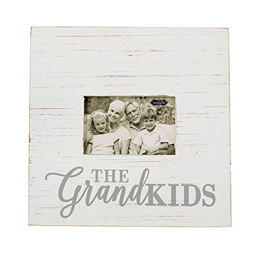 Mud Pie Painted Wood White and Gray Grandkids Picture Frame 4