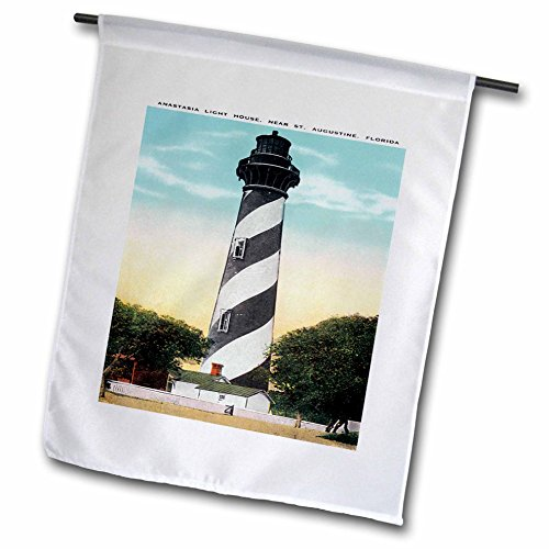 Anastasia Lighthouse - 3dRose fl_169573_1 Anastasia Light House, St Augustine, Florida Garden Flag, 12 by 18-Inch