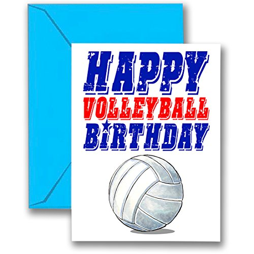- Play Strong 3-Pack Volleyball Star Birthday Cards 3-Pack (5x7) Sports Birthday Greeting Cards - Awesome for Players, Coaches and Fans Birthdays, Gifts and Parties! #AllProfitsToHelpKids