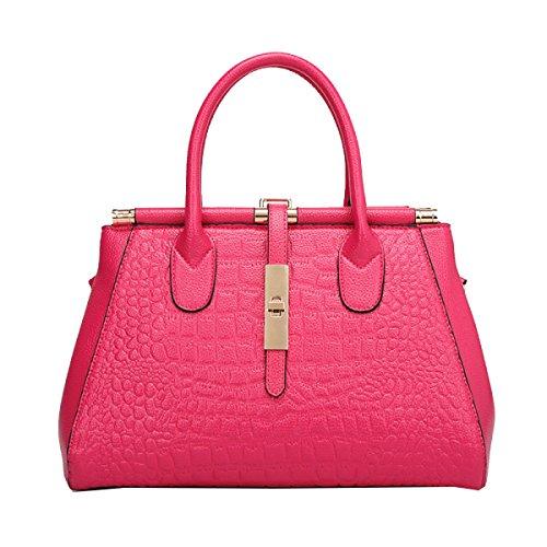 Yy.f Bolsa De Relieve Bolsos De Cocodrilo Bolsos Grandes Bolso De La Manera Las Nuevas Bolsas Señoras De La Manera Bolsas Bolsas Multicolores Pink