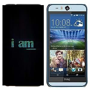 EJOOY---Cubierta de la caja de protección para la piel dura ** HTC Desire Eye M910x ** --YO SOY TODO SER