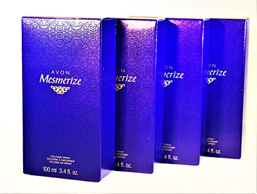 Avon Mesmerize cologne spray 3.4fl. oz. Lot 4 bottles