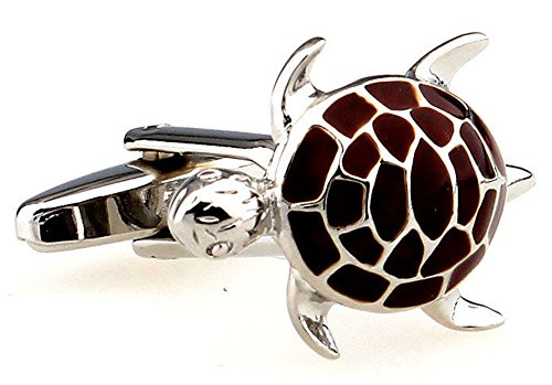 Maroon Mens Cufflinks (Mens Executive Cufflinks Maroon Enamel Hawksbill Marine Sea Turtle Cuff Links)