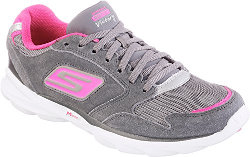 Skechers Go Run Sonic Victory Womens Running Shoes Charcoal / Hot Pink 49wvv