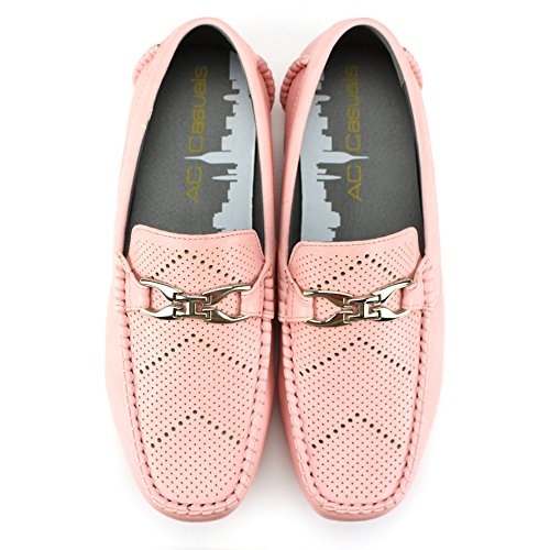 Summer Casual Casuals Perforations Ac Moccasin Loafer Pink Antonio 6747 Driving Comfort Men's Cerrelli Slip on Light Perfs qp1CAR