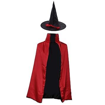 Gazechimp Halloween Zauberer Hexe Umhang Karneval Fasching Kostum
