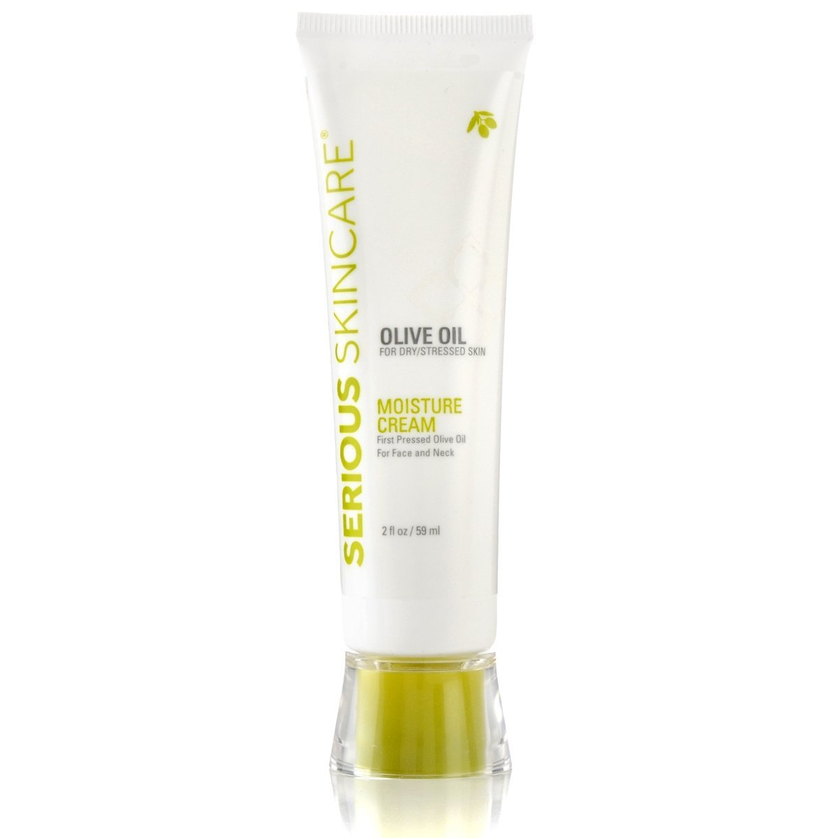 Serious Skin Care First Pressed Olive Oil Moisture Cream for Face and Neck 2 Oz