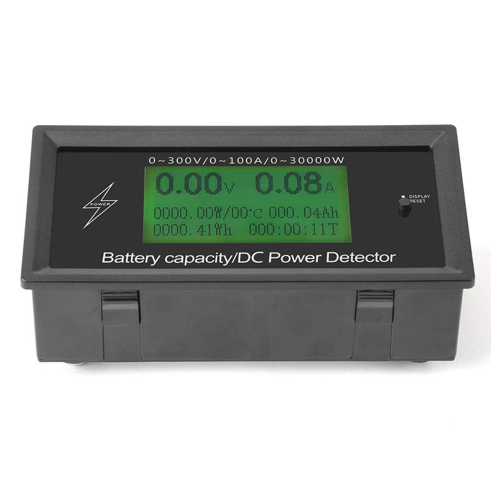 100A amp/èrem/ètre voltm/ètre Capacit/é de la batterie Testeur de d/étecteur de puissance Voltm/ètre CC voltm/ètre num/érique 300V