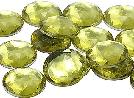Jonquil Pale-Yellow 100 Non-Hotfix Flatback Glass Crystal Diamanté Rhinestones