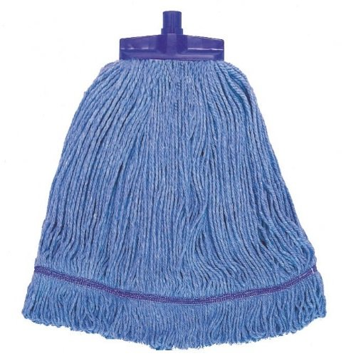 Stayflat Changer Mop Head Small 12oz Blue With Scourer - Pack of 10 Syr Clean