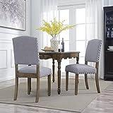 Best Studio Designs Studio Designs Wood Designs High chairs - BellezeTraditional Dining Chair Set of (2) Upholstered Linen Review