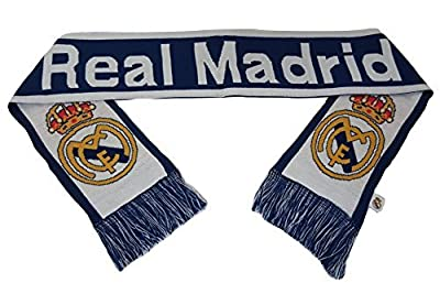 Real Madrid FC Double Sided Scarf 60 Inches Long