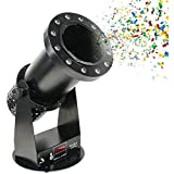 ZOUJUN 1500W Confetti Launcher Machine Cannon with LED Light Effects Control for Party Wedding Concerts Celebration Speciial Events Stage Effect Confetti Shot Shooter