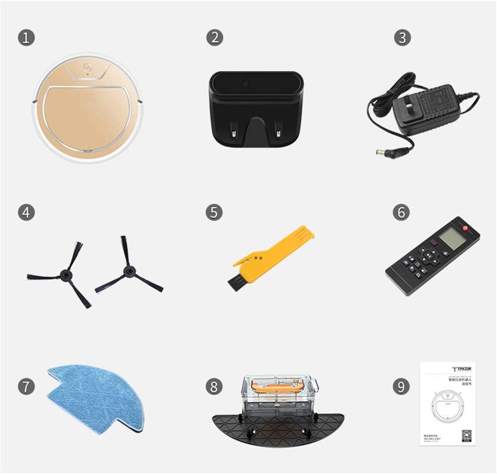 CHU Balayer Robot Aspirateur Et Mop Pet Cheveux, Tapis Et Planchers Durs,4 4
