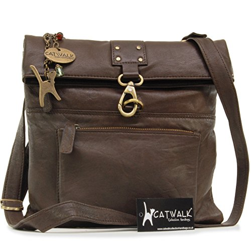 Women's Brown Collection Catwalk Dispatch Body Cross Handbags Bags Dark x1wv8wqp
